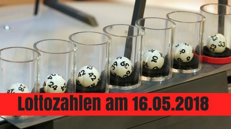 Die Lottozahlen zum Lotto am Mittwoch am 16.05.2018. (Foto)