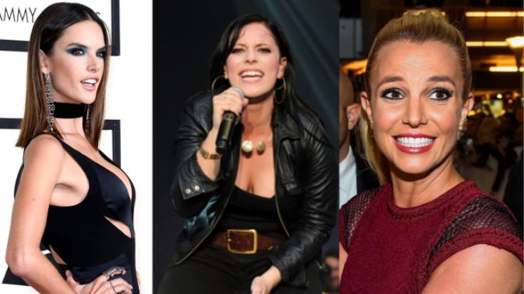 Alessandra Ambrósio, Stefanie Kloß, Britney Spers (v.li.).