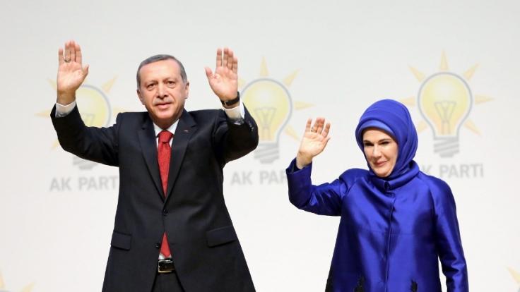 Recep Tayyip und Emine Erdogan. (Foto)