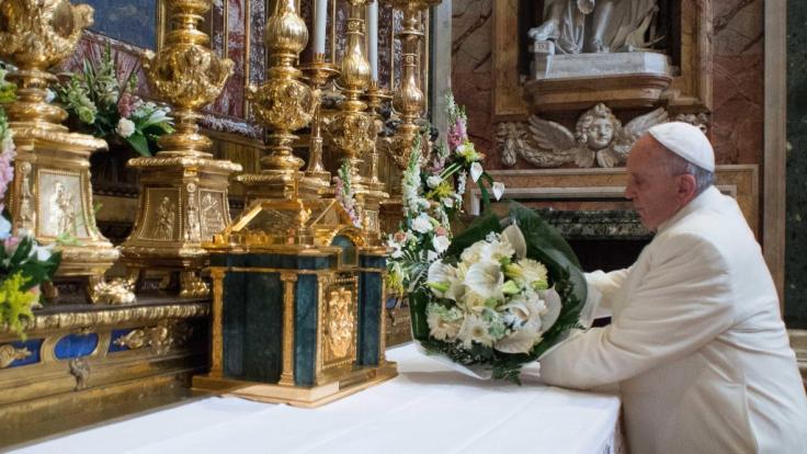 Die Basilika Santa Maria Maggiore im Herzen von Rom gehört bist heute zu den vier Papstbasiliken der Stadt - und geht auf eine Legende aus dem vierten nachchristlichen Jahrhundert zurück. (Foto)