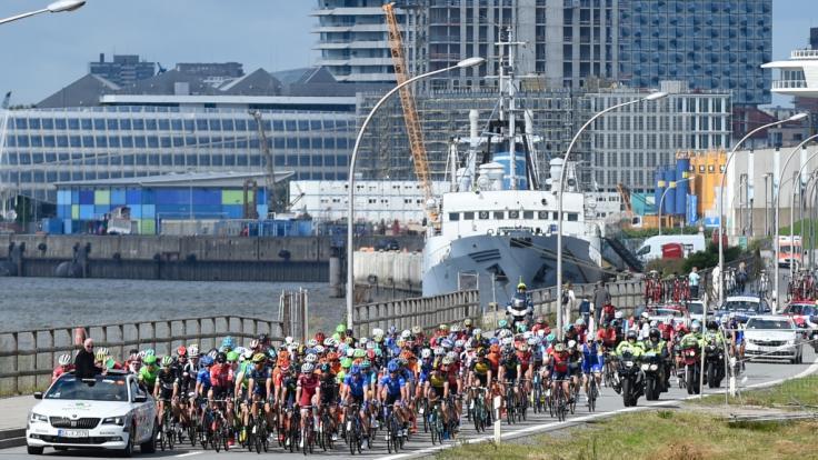 Die Strecke des Euroeyes-Cyclassics-Radrennen 2018 führt direkt durch Hamburg.