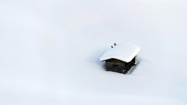 Wie lange hält das Schneechaos noch an? (Foto)