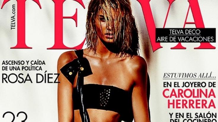 """Luisa Hartema auf dem Cover der spanischen """"Telva"""". (Foto)"""