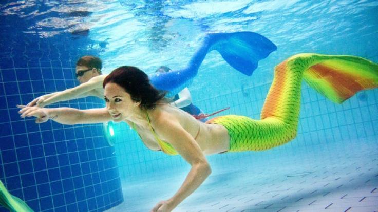 Katrin Gray ist mittlerweile als Meerjungfrau unterwegs, (Foto)