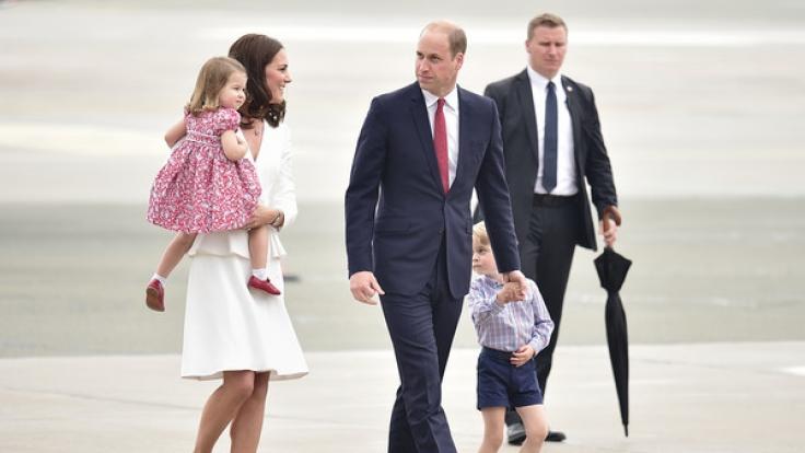 Herzogin Kate, Tochter Charlotte, Prinz William und der kleine George kommen am 19. Juli nach Deutschland.