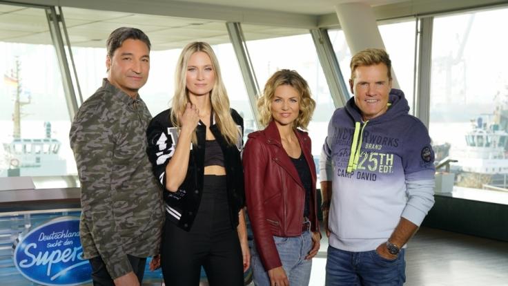 Die neue DSDS-Jury: Mousse T., Carolin Niemczyk, Ella Endlich und Dieter Bohlen (v.l.) (Foto)