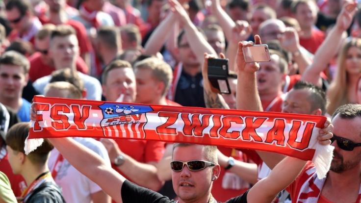 Fans vom FSV Zwickau zeigen Stolz, zu wem sie stehen. (Symbolbild) (Foto)