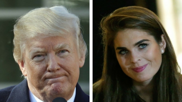 Der mächtige US-Präsident und seine hübsche Pressesprecherin sollen nicht nur beruflich auf einer Wellenlänge liegen. (Foto)