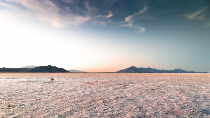 Die Dürre in den Salzseen von Utah bereitet Wissenschaftlern Sorge. (Foto)