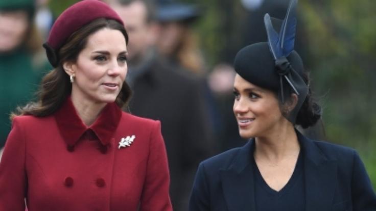 Kate, Herzogin von Cambridge, und Meghan, Herzogin von Sussex, sollen sich weiterhin zoffen.