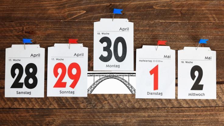 Urlaubstage sparen mit Brückentagen: Im Jahr 2019 fallen viele Feiertage arbeitnehmerfreundlich auf einen Donnerstag. (Foto)