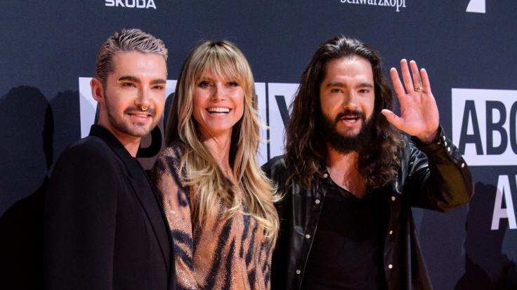 Bill Kaulitz, Heidi Klum und Tom Kaulitz. (Foto)