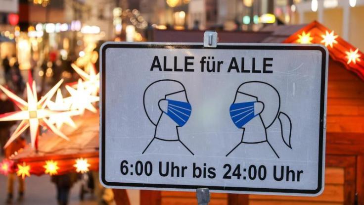 Maske auf: Die AHACL-Regeln sind auch in der Adventszeit allgegenwärtig. (Foto)
