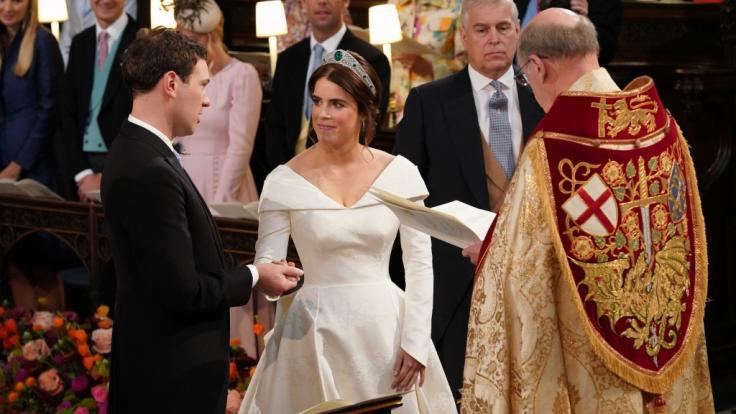 Prinzessin Eugenie von York und Jack Brooksbank geben sich das Ja-Wort. (Foto)