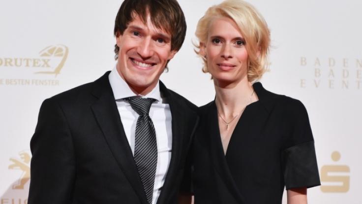 Triathlet Sebastian Kienle und seine Frau Christine Schleifer.