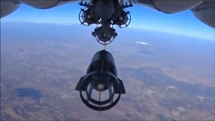 Russischer Luftschlag in Syrien.