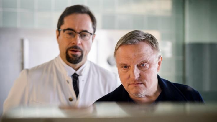 Die Kommissare Boerne (Jan Josef Liefers) und Thiel (Axel Prahl) ermitteln wieder am Sonntag, den 25. September 2016. (Foto)