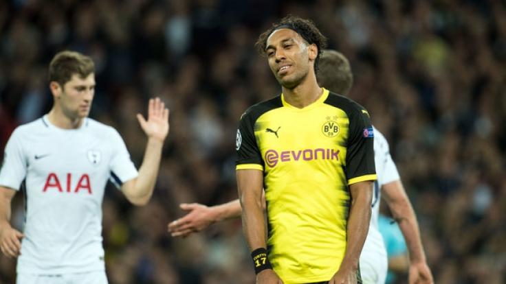 Pierre-Emerick Aubameyang wurde gegen Tottenham ein Tor geklaut. (Foto)