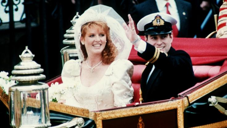 Prinz Andrew und Sarah Ferguson feierten 1986 Hochzeit - zehn Jahre später wurde die Scheidung amtlich.