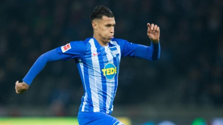 Davie Selke, Spieler des Fußballbundesligisten Hertha BSC, steht offenbar vor einem Wechsel zu Werder Bremen. (Foto)