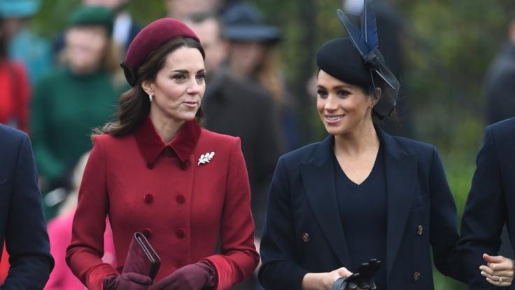 Gute Miene zum bösen Spiel: Kate Middleton und Meghan Markle wurden nie beste Freundinnen.