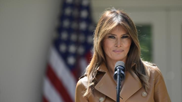 Melania Trump sorgte mit der Umgestaltung des Rosengartens des Weißen Hauses für Aufruhr. (Foto)