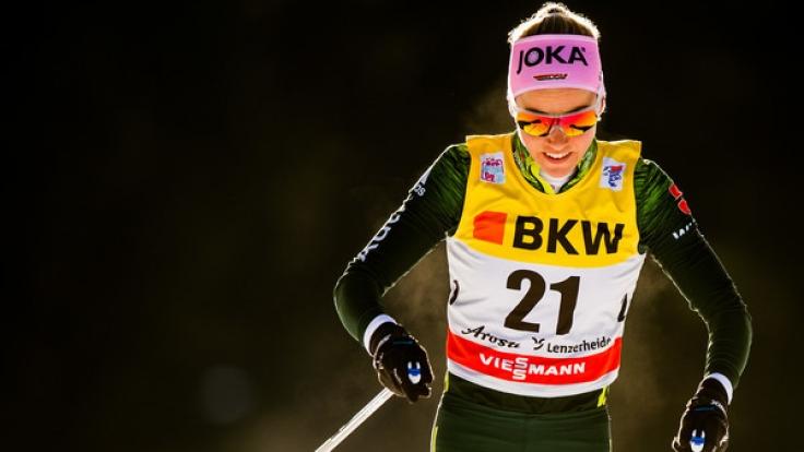 Stefanie Böhler aus Deutschland in Aktion.