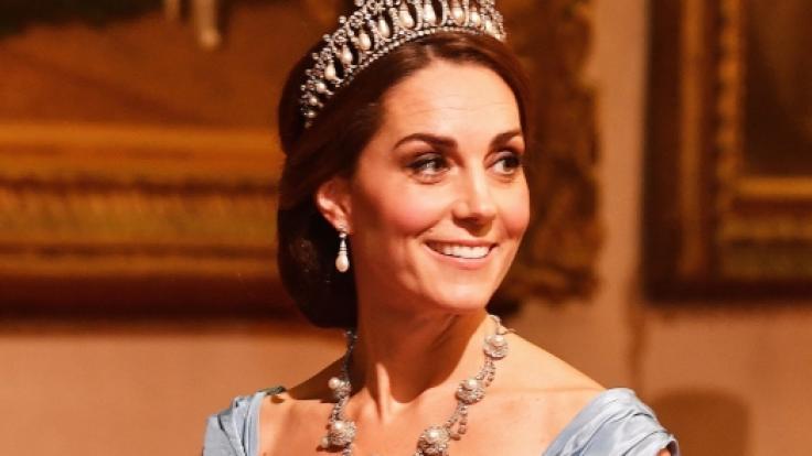 Kate Middleton beim Staatsbankett im Buckingham Palast.