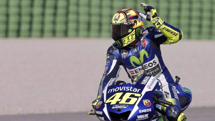 Valentino Rossi blieb sein zehnter Titelgewinn beim MotoGP-Finale in Valencia verwehrt. (Foto)
