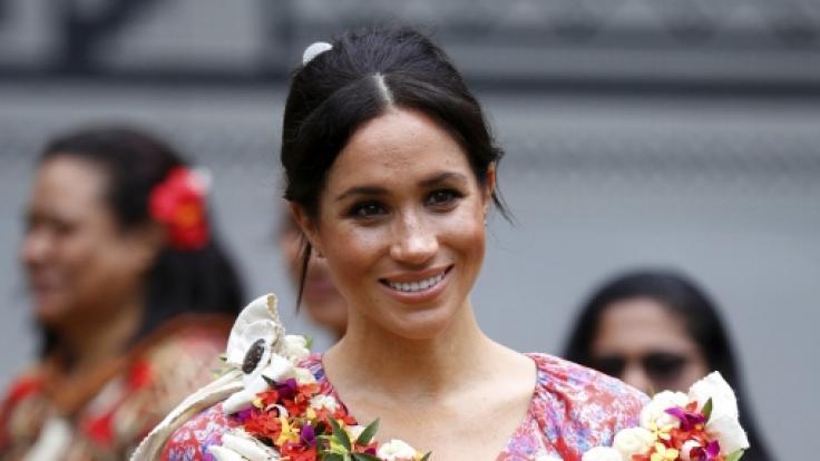 Meghan, Herzogin von Sussex, musste in Suva wegen Sicherheitsbedenken vom Markt entfernt werden. (Foto)