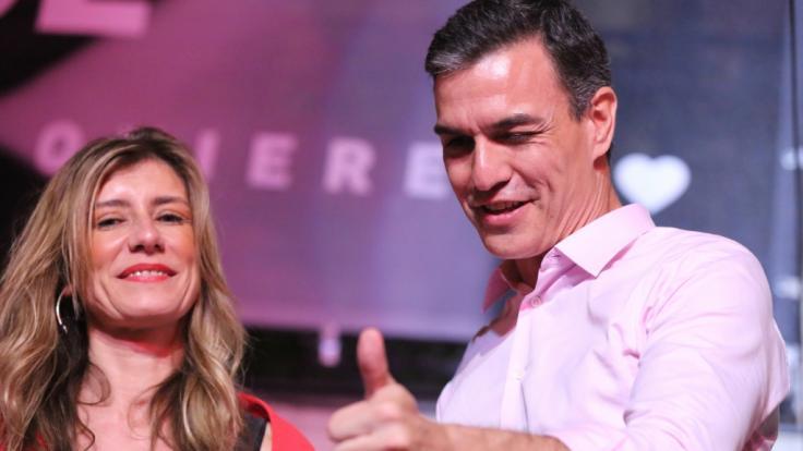 Sanchez feiert Sieg der Sozialisten den spanischen Parlamentswahlen