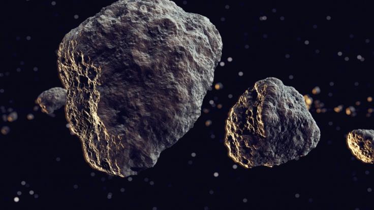 Ein Doppel-Asteroid rast an der Erde vorbei. (Foto)