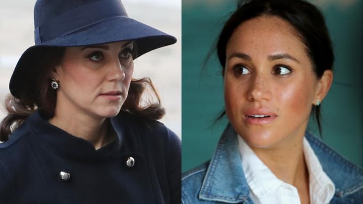 Kate Middleton und Meghan Markle fanden sich einmal mehr in den Royals-News wieder. (Foto)