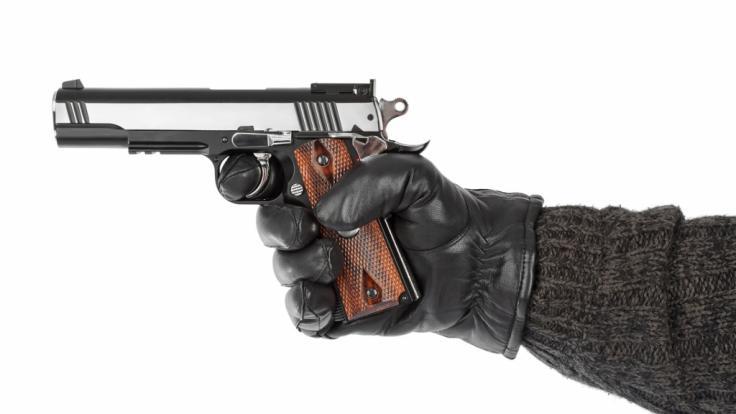 Der Schauspieler Bradley Welsh in Edinburgh auf offener Straße erschossen. (Symbolbild) (Foto)