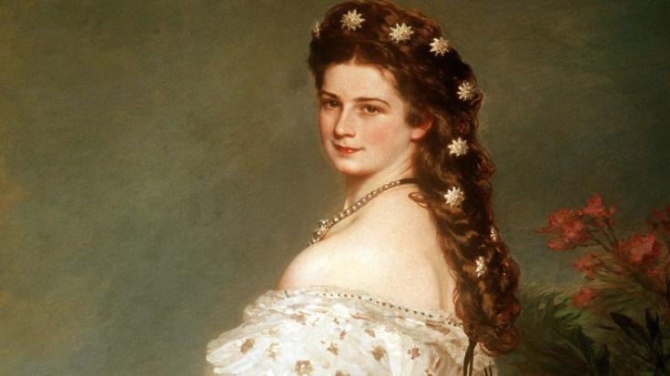 Ein Ausschnitt des Ölgemäldes von Franz Xaver Winterhalter zeigt Elisabeth, Kaiserin von Österreich und Königin von Ungarn, die Sisi genannt wurde. (Foto)