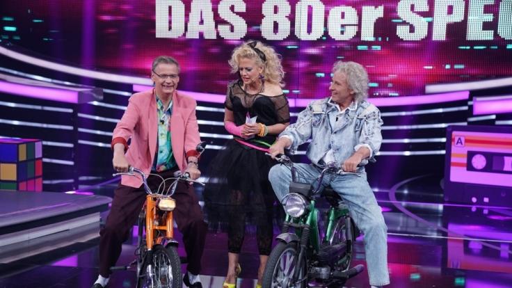 Günther Jauch, Barbara Schöneberger und Thomas Gottschalk reisen zurück in die 80er.