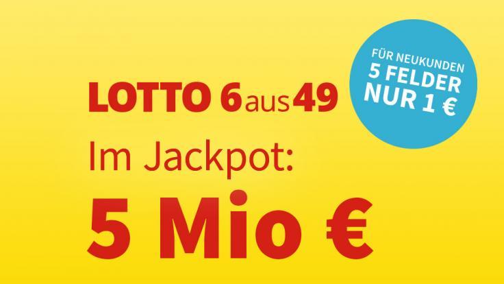 Am Samstag, 08.05.2021, liegen 5 Millionen Euro im Lotto-Jackpot. (Foto)