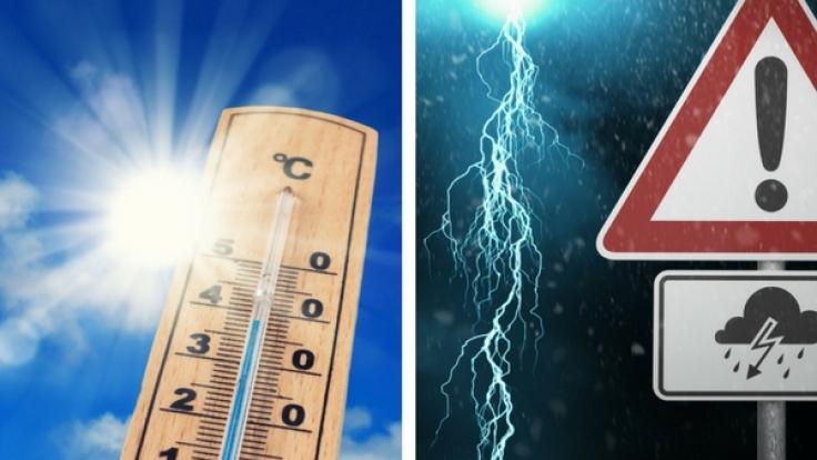 Der August 2017 verabschiedet sich mit sommerlichen Temperaturen über 30 Grad, läutet aber den September mit Gewittern, Unwetter und erstem Schnee ein. (Foto)