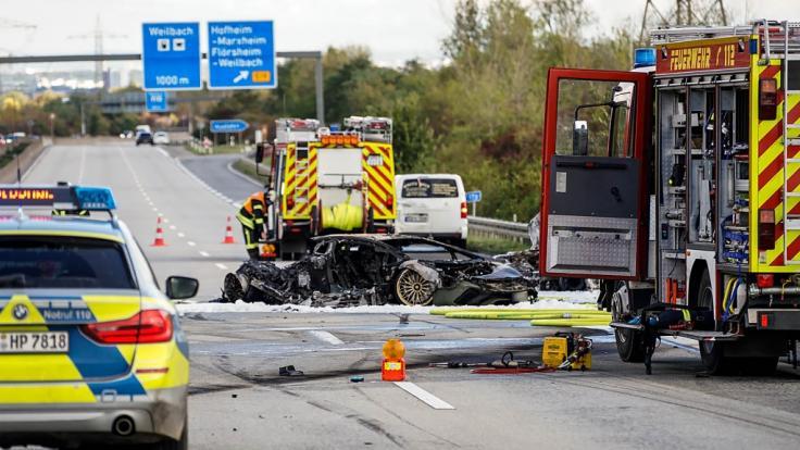 Auf der A 66 verbrannte ein Unschuldiger nach einem mutmaßlich illegalem Autorennen. (Foto)
