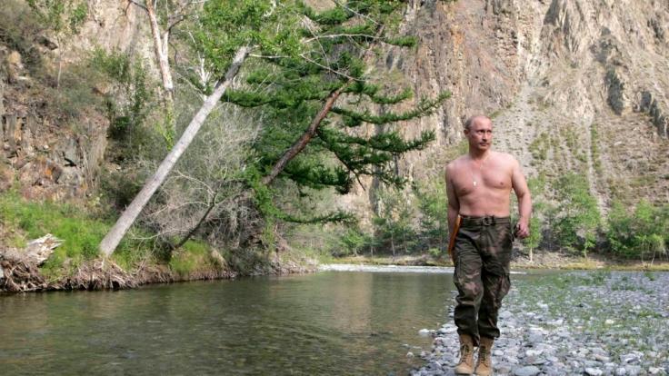 Für einen Mann wie Wladimir Putin ist die sibirische Wildnis natürlich kein Problem. (Foto)