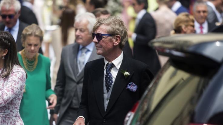 Ernst August Prinz von Hannover kommt zur kirchlichen Trauung seines Sohnes Christian in Limas Altstadt. (Foto)