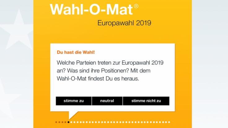 Wahl-O-Mat zur Europawahl 2019 ist online. (Foto)