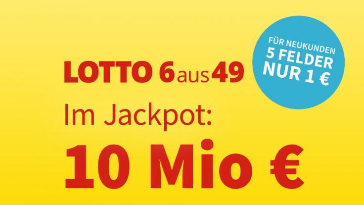 Am Samstag, 25.09.2021, liegen 10 Millionen Euro im Lotto-Jackpot bei Lotto 6aus49. (Foto)