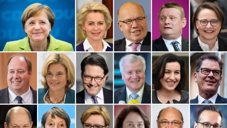 Die vorläufigen Kandidaten für das neue Bundeskabinett. (Foto)