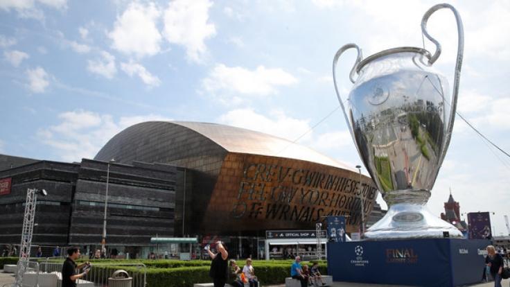 Der Cardiff Bay in Cardiff. Am 03. Juni 2017 wurde das Finale der Männer Champions League gespielt.