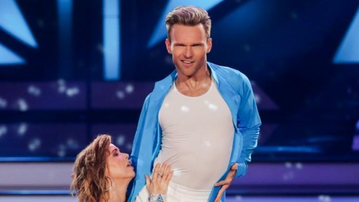 Schauspielerin Tina Ruland und Profitänzer Vadim Garbuzov 2018 in der RTL-Tanzshow