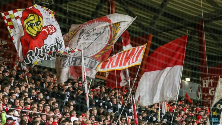 Die Fans des 1. FC Union Berlin stehen hinter ihrem Verein. (Symbolbild) (Foto)
