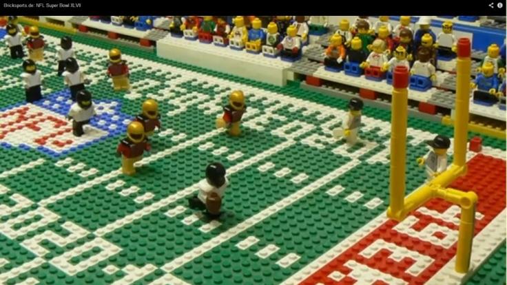Täuschend echt: Das Lego-Finale des Super Bowl.