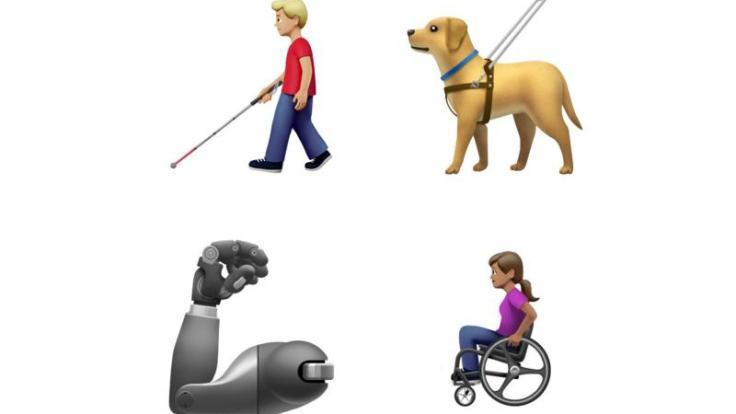 Blindenhund, Prothese, Rollstuhlfahrerin: Die Messenger-Kommunikation soll inklusiver werden, wie etwa die neuen, ab Herbst verfügbaren Apple-Emojis zeigen. (Foto)