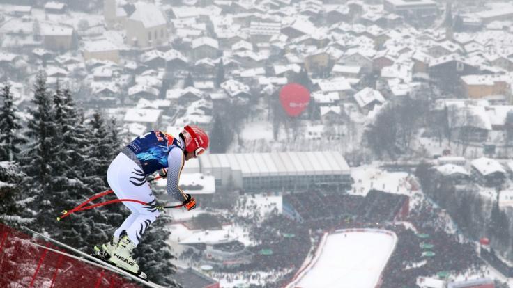 Am Wochenende sind die Ski-Rennfahrer in Kitzbühel in Österreich zu Gast.